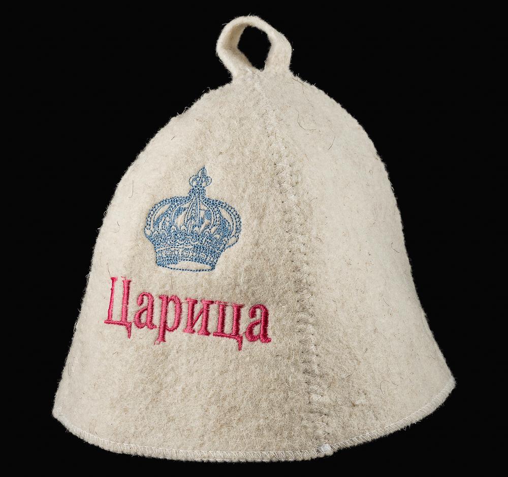 """Шляпа банная с вышивкой """"Царица"""""""