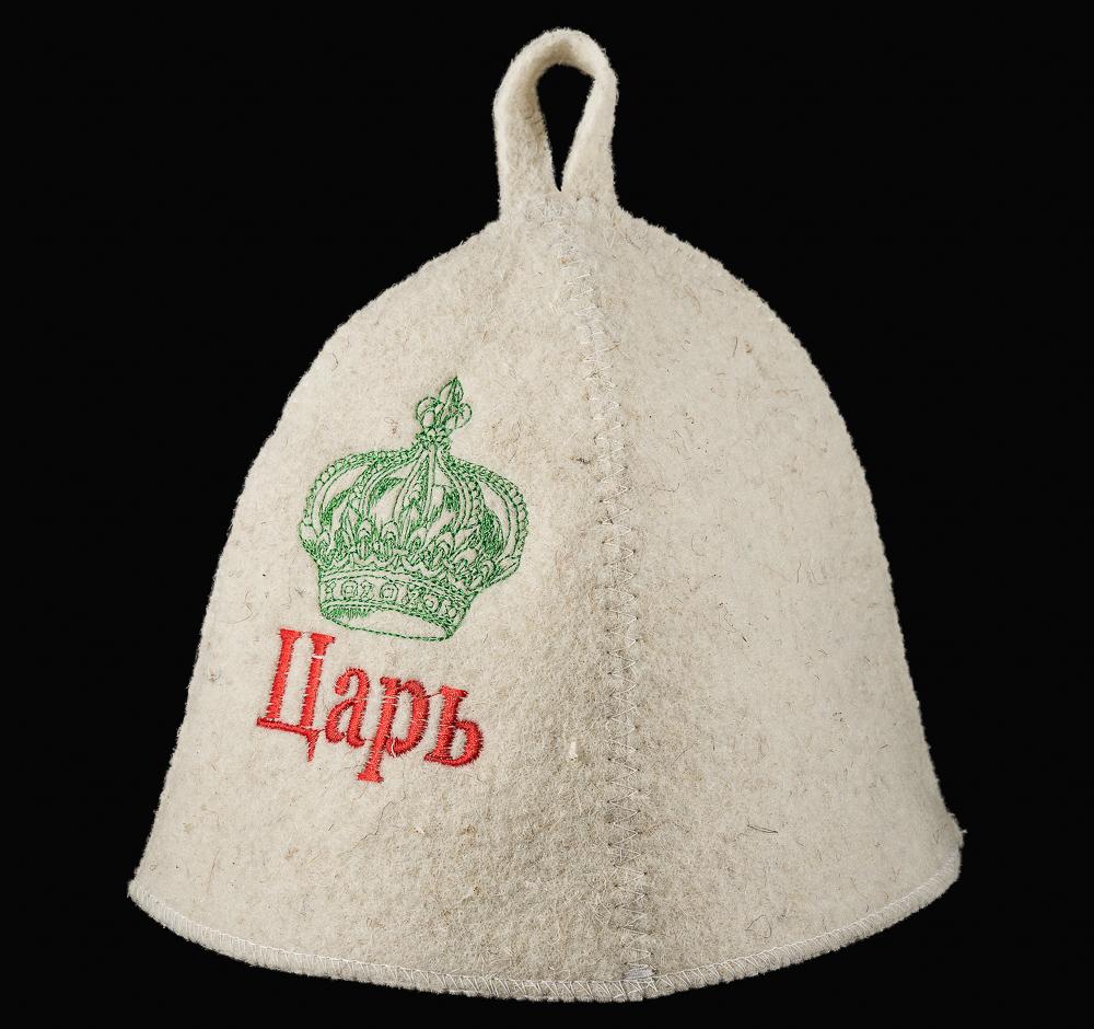 """Шляпа банная с вышивкой """"Царь"""""""